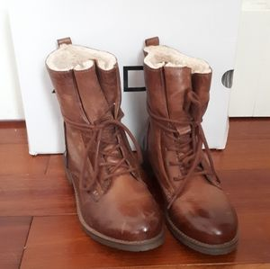 Aldo Brown Lace-Up Winter Boots